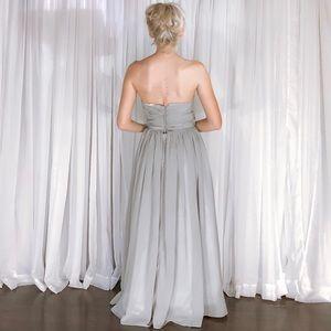Simply Bridal Dresses - Petite Simply Bridal Grey Chiffon Bridesmaid Dress